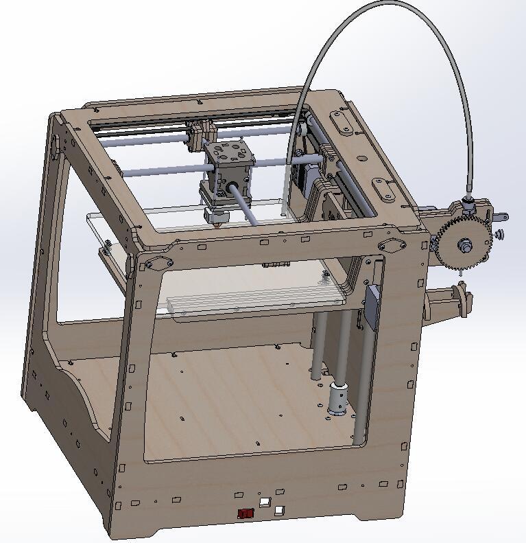 3D 打印机的图纸资料 DIY 自制3D打印机图纸资料 包含:机械、软件、电气