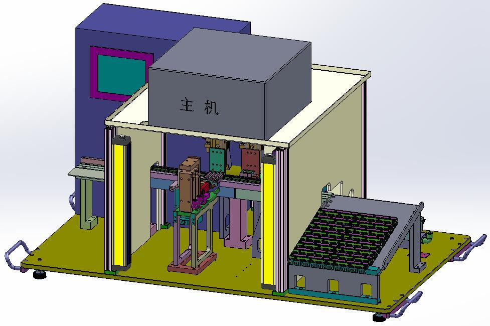 Mini USB 测试机— 铁壳折弯—电性通检测—-NG品排出